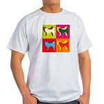 Siberian Husky Silhouette Pop Art Light T-Shirt