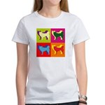 Siberian Husky Silhouette Pop Art Women's T-Shirt