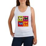 Siberian Husky Silhouette Pop Art Women's Tank Top