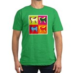 Siberian Husky Silhouette Pop Art Men's Fitted T-S