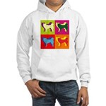 Siberian Husky Silhouette Pop Art Hooded Sweatshir