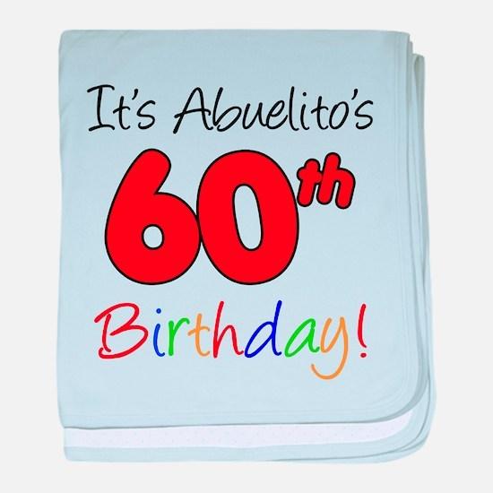 Abuelitos 60th Birthday baby blanket
