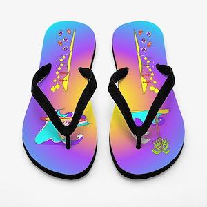 Flamboyant Flip Flops Dolphins 3