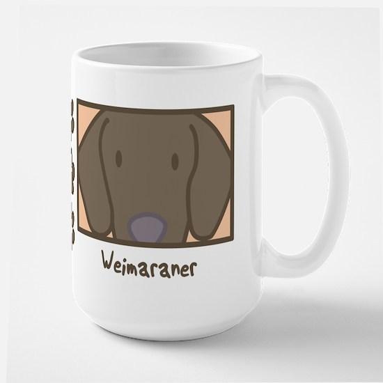 Anime Weimaraner Large Mug