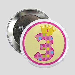 "3rd Birthday Princess Crown 2.25"" Button"