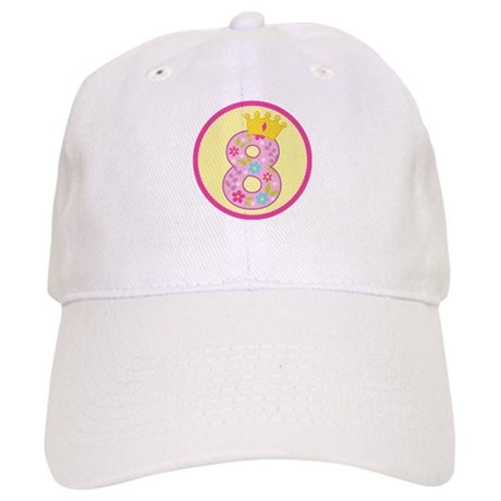 8th Birthday Princess Crown Cap