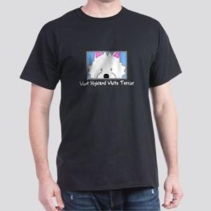 Anime Westie Black T-Shirt