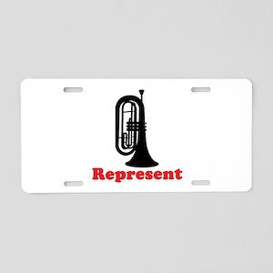 Marching Band Baritone Represent Aluminum License