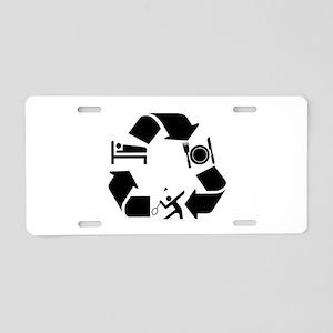 Badminton Designs Aluminum License Plate