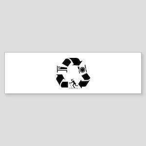 Biathlon designs Sticker (Bumper)