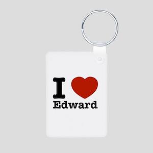 I love Edward Aluminum Photo Keychain