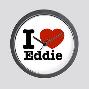I love Eddie Wall Clock
