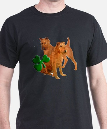 Irish terriers with shamrock T-Shirt