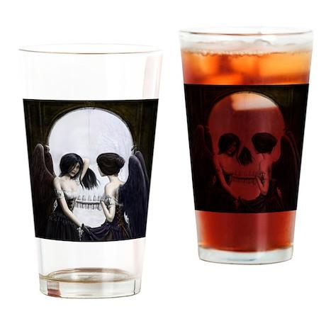 Skull Illusion Drinking Glass
