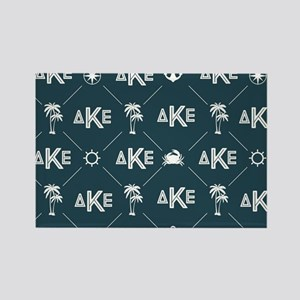 Delta Kappa Epsilon Pattern Rectangle Magnet