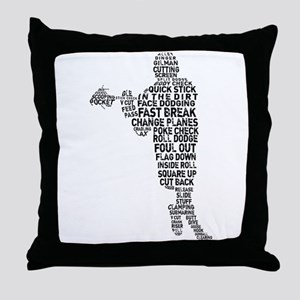 Lacrosse Terminology Throw Pillow