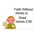 White Faith Without Works Postcards (Package of 8)