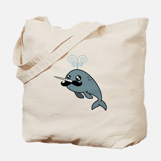 Narwhalstache Tote Bag