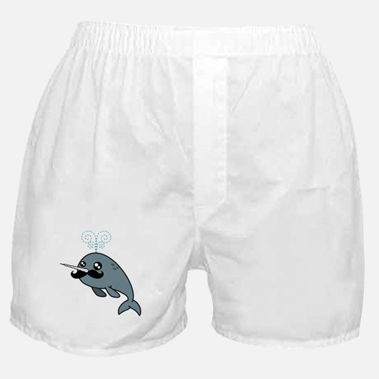 Narwhalstache Boxer Shorts