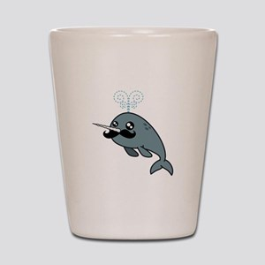 Narwhalstache Shot Glass