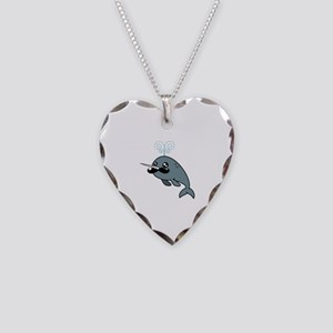 Narwhalstache Necklace Heart Charm