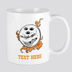 Bowling Cartoon with Text. Mug