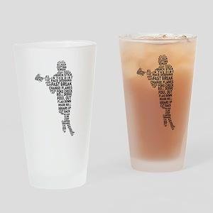 Lacrosse Terminology Drinking Glass
