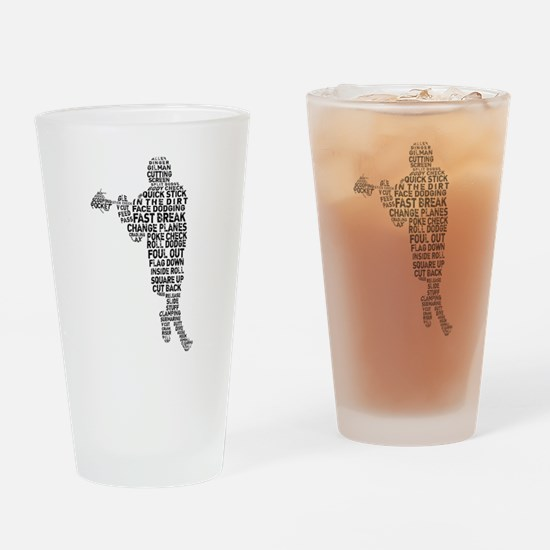 Lacrosse Terminology Drinking Glass