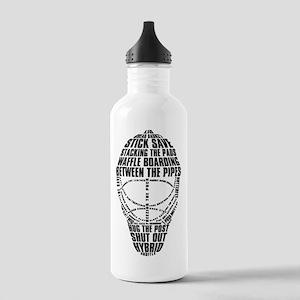 Hockey Goalie Mask Text Stainless Water Bottle 1.0