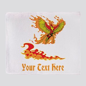 Phoenix and Custom Text. Throw Blanket