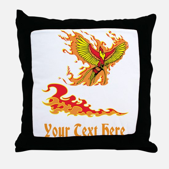 Phoenix and Custom Text. Throw Pillow
