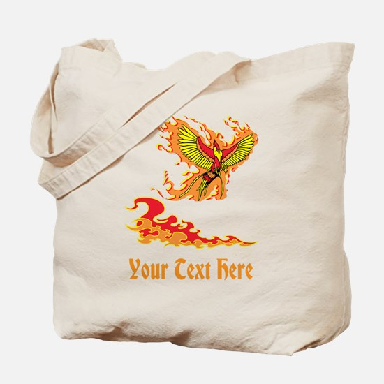 Phoenix and Custom Text. Tote Bag