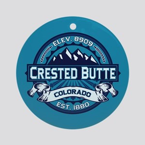 Crested Butte Ice Ornament (Round)
