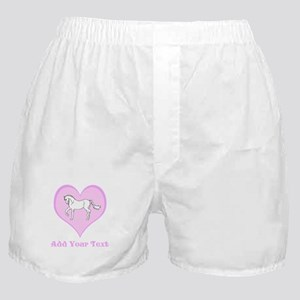 Horse and Pink Heart and Text Boxer Shorts