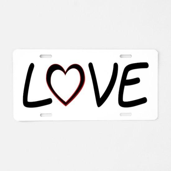 Heart Shaped Love Aluminum License Plate