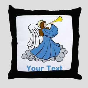 Angel and Custom Writing. Throw Pillow