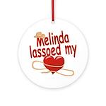 Melinda Lassoed My Heart Ornament (Round)
