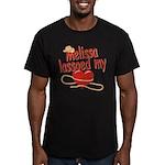 Melissa Lassoed My Heart Men's Fitted T-Shirt (dar