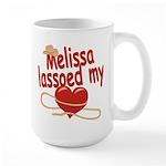 Melissa Lassoed My Heart Large Mug