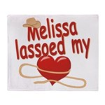 Melissa Lassoed My Heart Throw Blanket