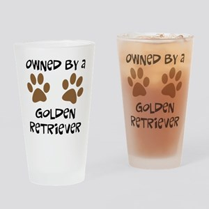 Owned By A Golden... Drinking Glass