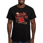 Michelle Lassoed My Heart Men's Fitted T-Shirt (da
