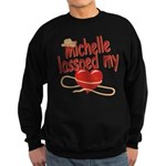 Michelle Lassoed My Heart Sweatshirt (dark)