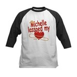 Michelle Lassoed My Heart Kids Baseball Jersey