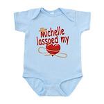 Michelle Lassoed My Heart Infant Bodysuit