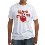 Mildred Lassoed My Heart Fitted T-Shirt
