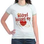 Mildred Lassoed My Heart Jr. Ringer T-Shirt