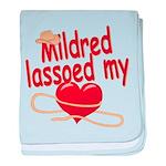 Mildred Lassoed My Heart baby blanket