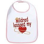 Mildred Lassoed My Heart Bib