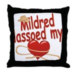 Mildred Lassoed My Heart Throw Pillow